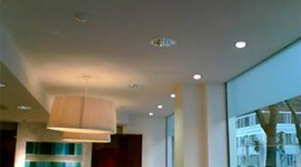 Acoustic Plaster Solution Douglas & Gordon, London ceiling