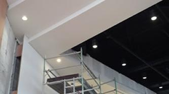 Acoustic Plaster Solution | Ashville College ceiiling