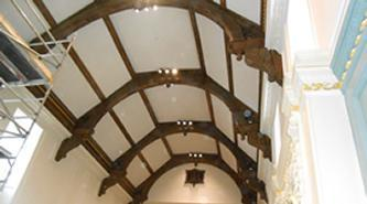 Acoustic Plaster Specialist | Cambridge University | Trinity Hall ceiling