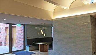 New Specialist Ambient Acoustic Plaster to ceiling - Jesus College